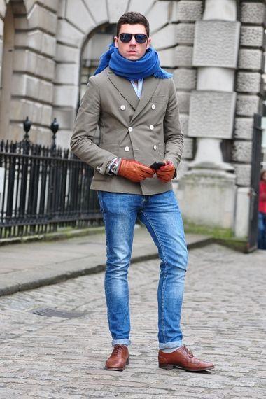 Men Oxford Slim Fit Long Sleeve Shirt