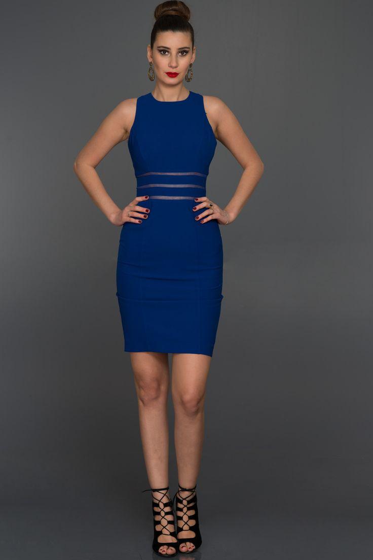 Kısa Dekoltesiz Abiye Elbise W8001
