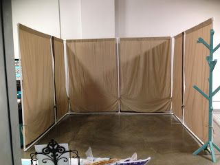Chapman Place: Craft Booth ideas - plastic pipe walls