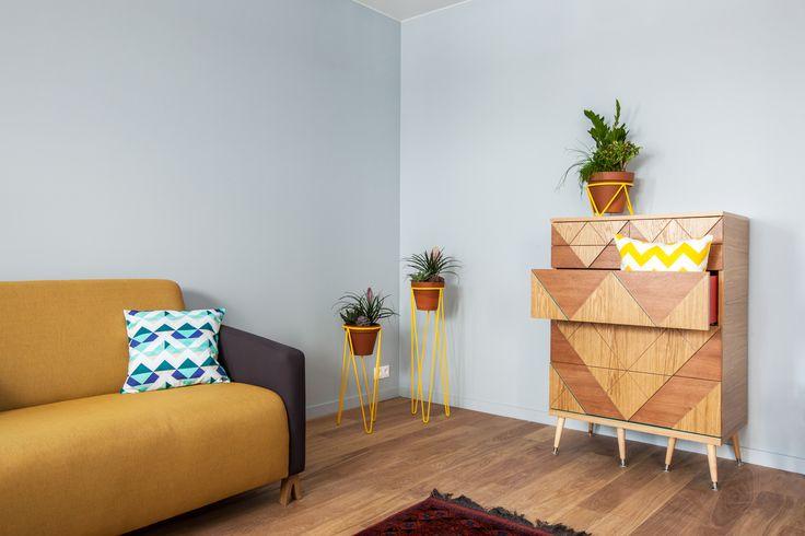 Двухместный диван Sova и комод Big Woo #диван #комод #мидсенчури