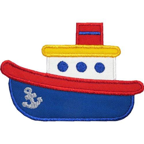 TugBoat Applique Design