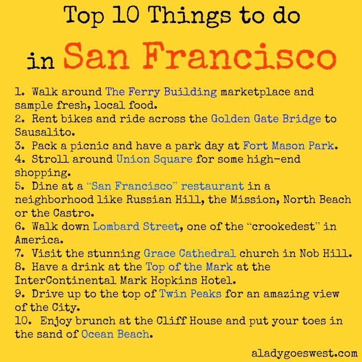 Top 10 Things to do in San Francisco by A Lady Goes West http://aladygoeswest.com/2014/07/24/top-10-things-to-do-in-san-francisco/ #SanFrancisco #Travel