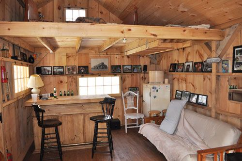 Cabins On Wheels Interior | 16x20 Vermont Cottage - a post and beam tiny house kit