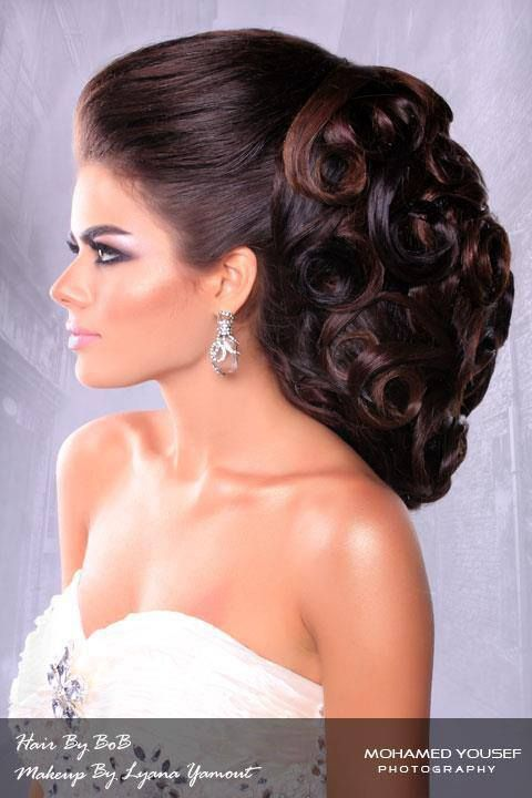 Arabic hairstyle. Beauty is at every age, and we can embrace God's gifts. A wife's long hair is just naturally beautiful, a glory to her and a joy to her partner/husband. Quit trying the artificial route and trust in how you were made.