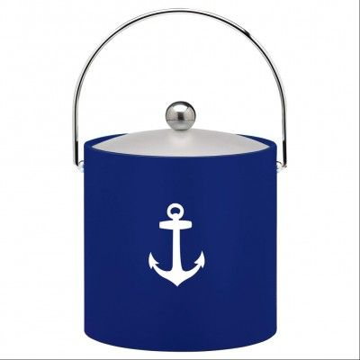 Who wouldn't want to serve summer guests from an adorable ice bucket featuring an anchor motif?