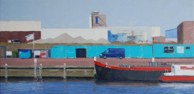 Harbour Scheveningen (40 x 60 cm) by Gineke Zikken