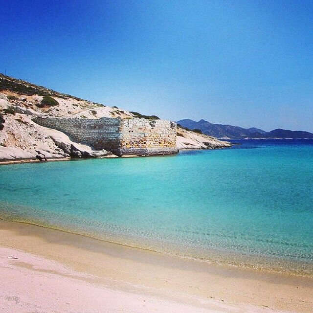 Exotic Prassa beach with a unique kind of sand , Kimolos island ☀️.