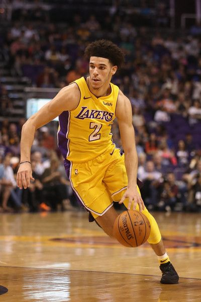 Lonzo Ball Photos - Lonzo Ball #2 of the Los Angeles Lakers handles the ball during the NBA game against the Phoenix Suns at Talking Stick Resort Arena on October 20, 2017 in Phoenix, Arizona. The Lakers defeated the Suns 132-130.  NOTE TO USER: User expressly acknowledges and agrees that, by downloading and or using this photograph, User is consenting to the terms and conditions of the Getty Images License Agreement. - Los Angeles Lakers v Phoenix Suns