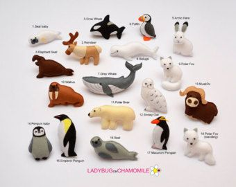FARM ANIMALS felt magnets Price per 1 item by LADYBUGonCHAMOMILE