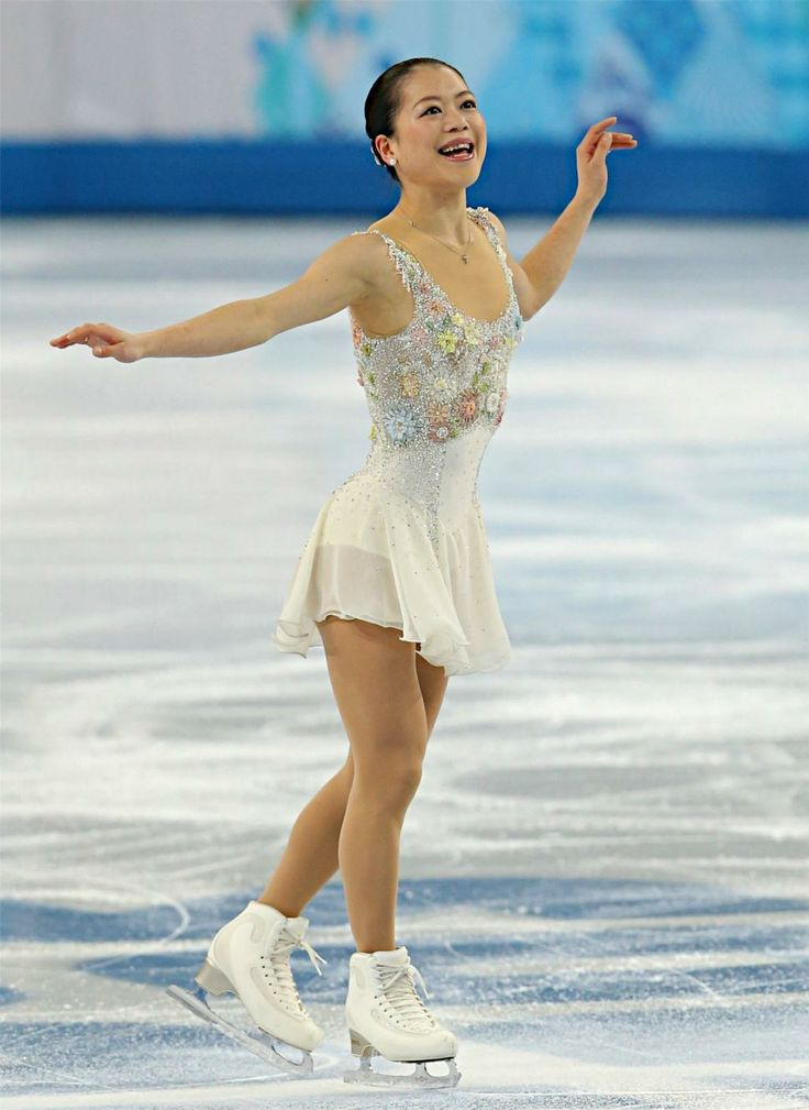 Akiko Suzuki (Sochi FS) 〔五輪・フィギュア〕フィギュアスケート女子フリーの演技を終えた鈴木明子=20日、ロシア・ソチ【時事通信社】