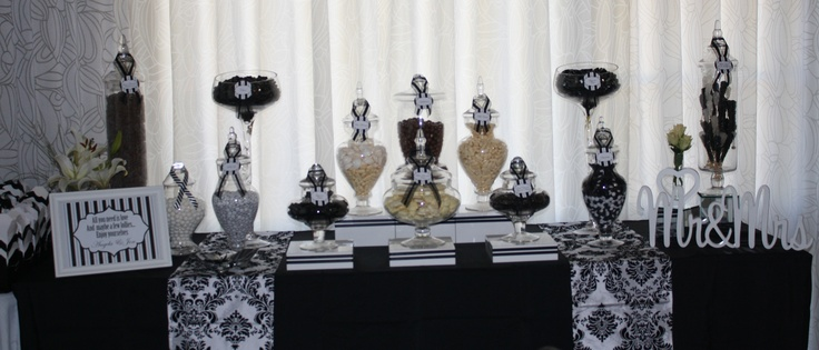 Black & White themed Lolly buffet