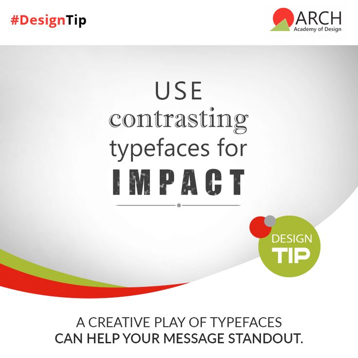 To emphasize on specific words in a #graphic, use a different font. For example, if you are using Helvetica or Times New Roman and want to emphasize on a particular word, use the bold form of League Gothic which will attract the eye and grab the needed attention! #ArchAcademyofDesign #ArchDesignTip