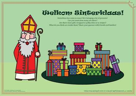 Sinterklaas free printable, gift free activity page