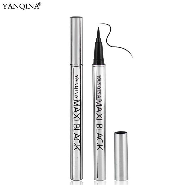YANQINA 1 Unids Nueva venta Caliente Impermeable Duradera Negro Eyeliner pluma Belleza Delineador de Ojos Lápiz Negro de Ojos Grandes Ojos Maquillaje herramientas