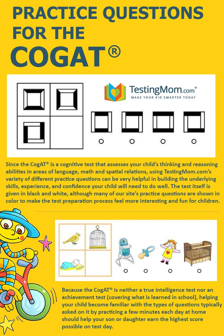 Can your child solve these practice problems from the #CogAT?