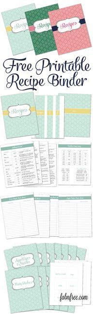 Free Printable Recip