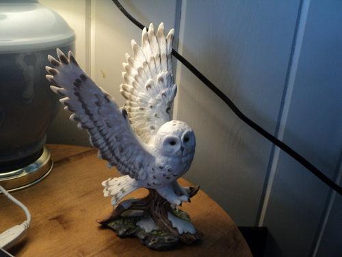 Homco Home Interiors 1991 Masterpiece Porcelain Figurine Snow White Owl Rare Ebay For Sale