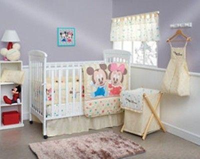 New Baby Friends Minnie And Mickey Crib Bedding Nursery