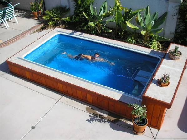An Endless Pool can fit in virtually any space. Swim at home, even in a small backyard.