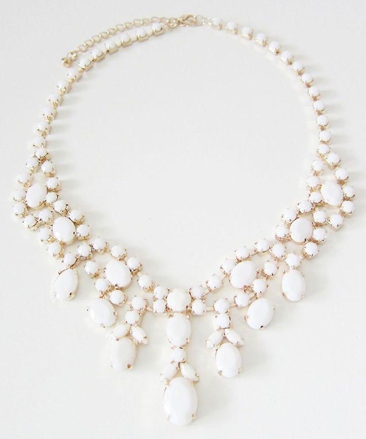 Milk White Statement Necklace #shoplately