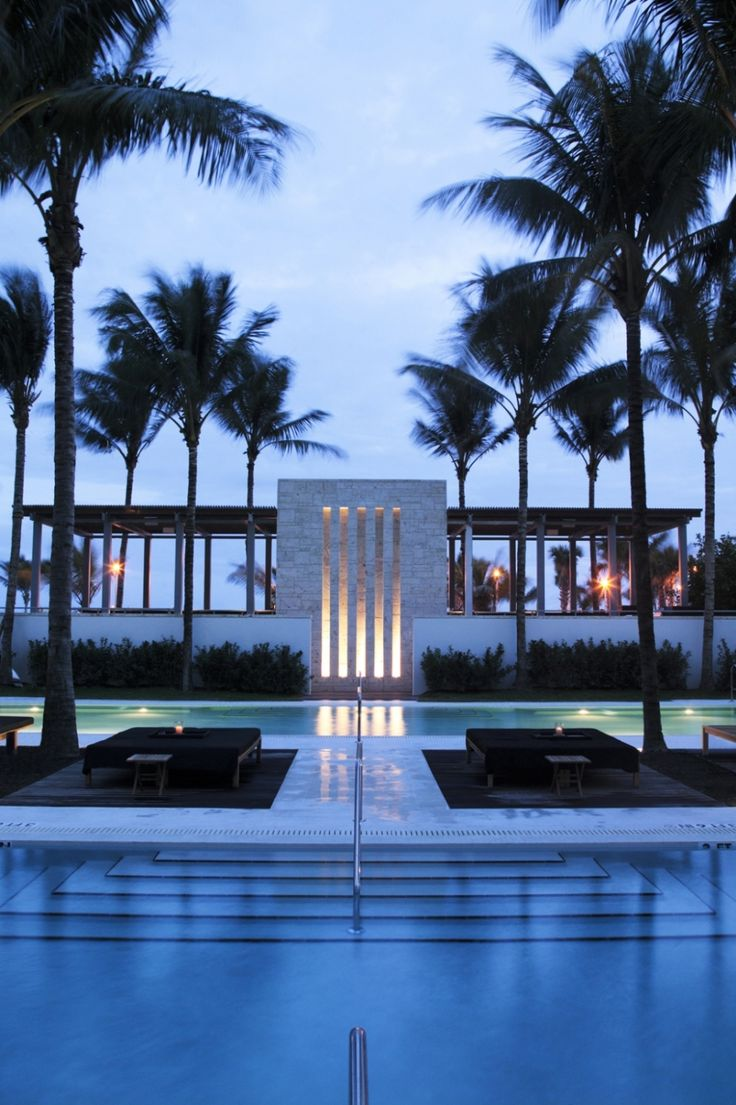 The Setai Hôtel, Miami - Pool view. Photography copyrights ...
