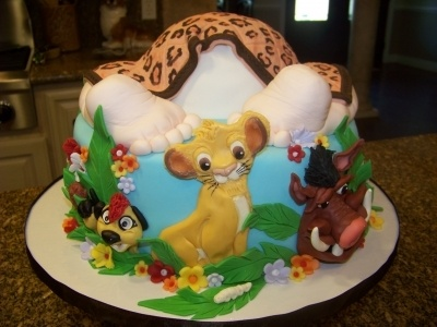 Simba Baby Rump Cake By Ginger_75833 On CakeCentral.com