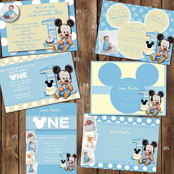 Custom Baby Mickey Mouse 1st Birthday Invitations by itsJenuine, $10.00