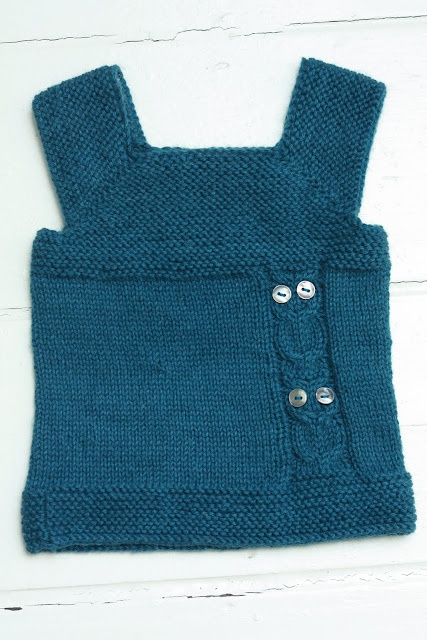 Baby sweater vest with owls