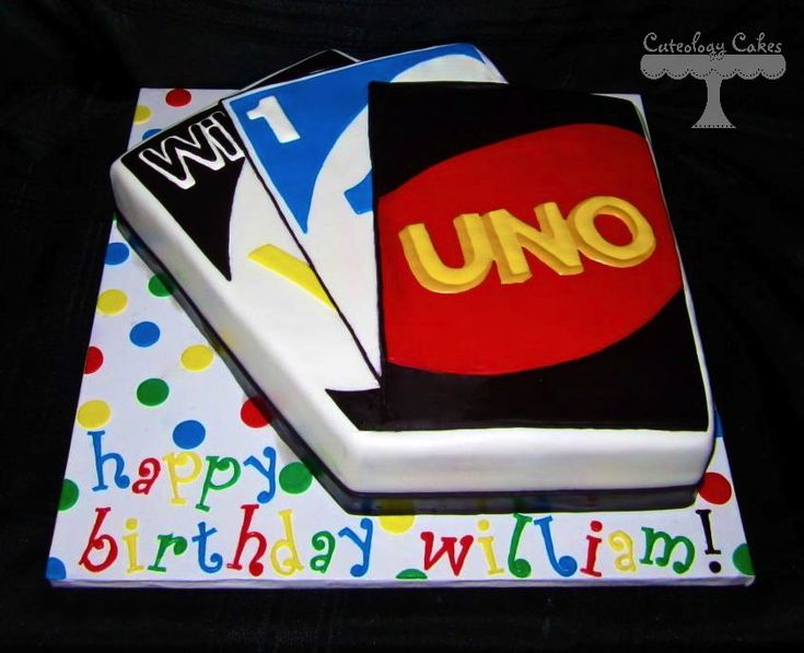 Best UNO Cakes Images On Pinterest Birthday Ideas Parties - Cake birthday games