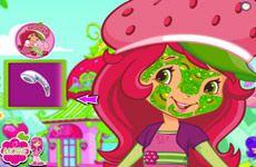 Juegos de Fresita.com - Juego: Facial real Rosita - Rosita Fresita Frutillita Tarta de Fresa