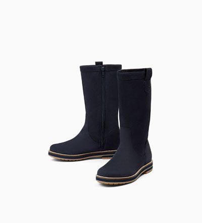 Image 4 of LEATHER BOOTS WITH TRACK SOLE from Zara