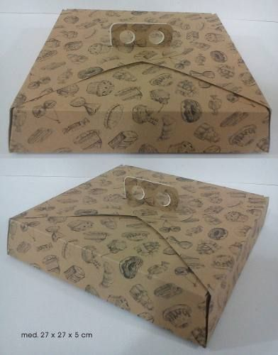 50 Cajas Para Tortas, Tartas, Brownies, 27x27x5 - $ 250,00