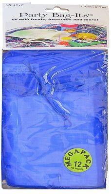 Bag-Its: 72 PCS 4.5x7 Sheer Organza Bag, Royal Blue This is a pack of 72 bags4 1/2 W x 7 H(smaller when closed) Each has a poly satin ribbondrawstring top to tie Sold to national craft chain to retail for $6.99/package of 12 or $.50/ea! Very nicely made - perfect for weddings, parties, events,gifts, jewelry bags, sachets and more! More quantity of this item,other colorsand sheer bagsalso available! Note: Due to lighting effects with photography, monitor age, settings for color, contrast…
