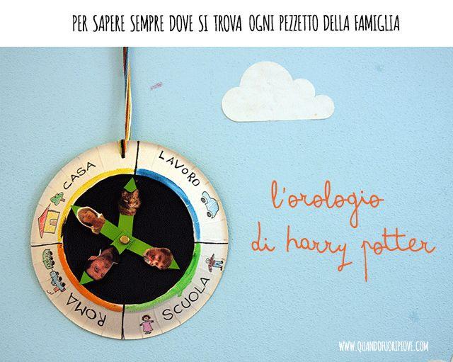 Quandofuoripiove: l'orologio di Harry Potter (per sapere sempre dove si trova ogni pezzetto della famiglia)