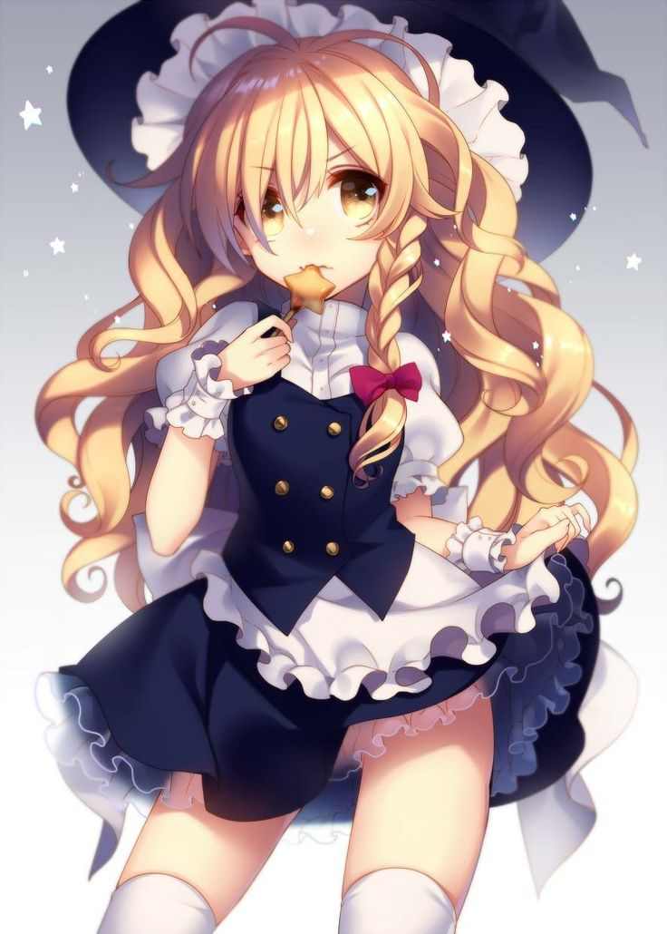 Masaru Touhou Kirisame Marisa Nopan See Through Skirt Lift Thighhighs Witch