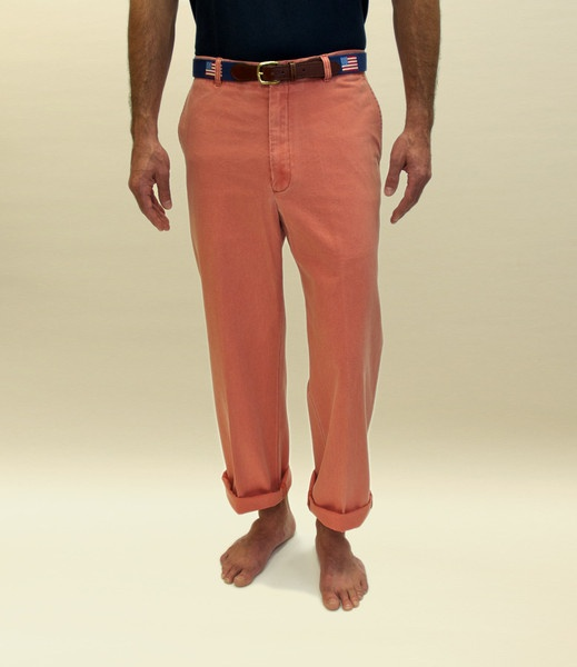 Murray's Toggery Shop — Nantucket Red Collection Men's Plain Front Pants - Nantucket Red