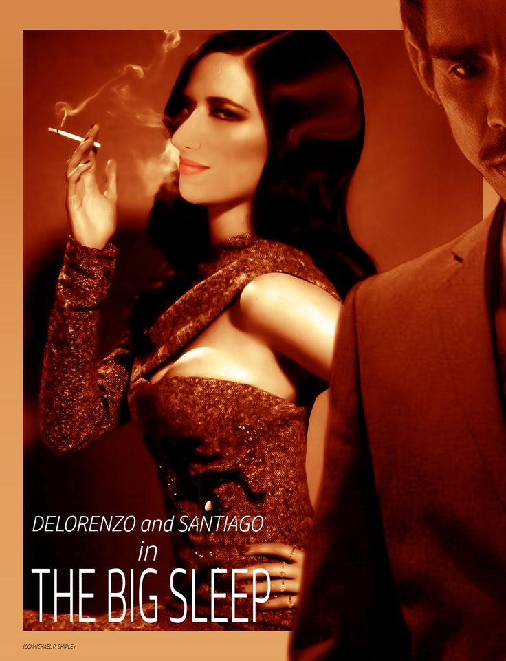 POSTER: Dana DeLorenzo and Ray Santiago in The Big Sleep (@ImDanaDeLorenzo @RealRaySantiago)