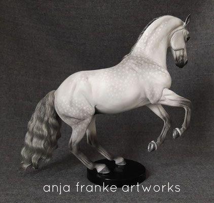 Brigitte Eberl Valegro breyer custom repaint plastic modelhorses - anja-franke-artworks model horses animal portraits