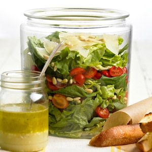 The flavors of pesto mix and mingle into a salad. For a meal, serve with chicken or fish./