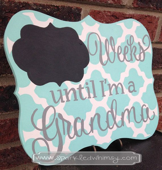 Weeks Until I'm a Grandma Countdown Chalkboard by SparkledWhimsy Woodworking  Sign  countdown  chalkboard  days  personalized  wood sign  days until  Sparkled Whimsy  shower gift baby  new baby  grandma  grandmother  gift