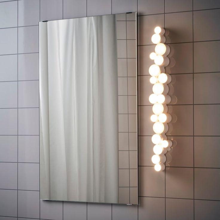 SÖdersvik Led Wall Lamp White Glossy, Ikea Bathroom Vanity Lights