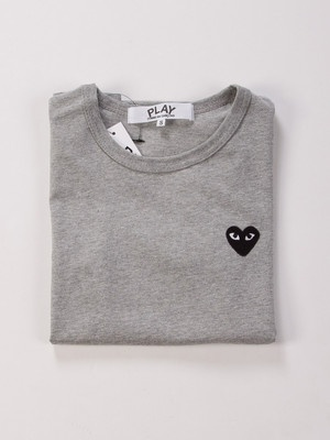 comme des garcons cdg play gray classic black heart s for women ebay