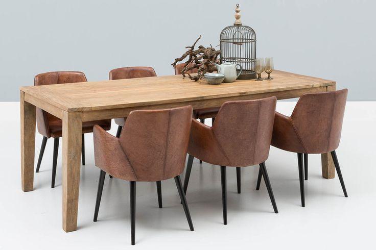 Beste 36 idee n over eettafel stoelen op pinterest leer for Eettafel stoelen cognac
