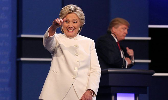 Donald Trump says he'll keep country 'in suspense' on accepting election result caption: Presidential debate highlights: Clinton and Trump's final face-off – video