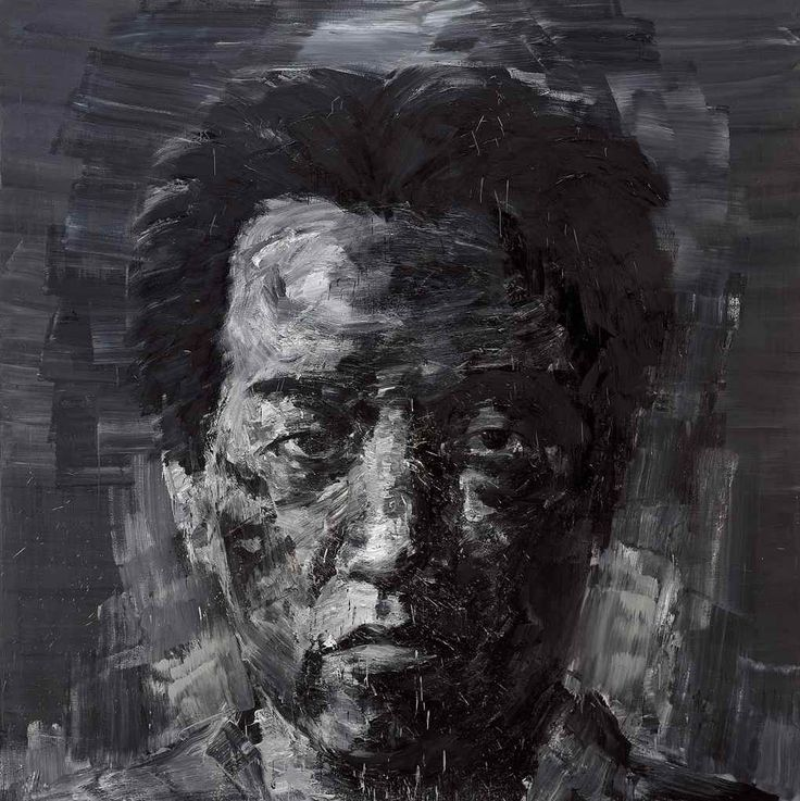 """Yan Pei-Ming / 严培明, b. China, 1960  Black Self Portrait  France (2007)  ""Yan Pei-Ming (Simplified Chinese: 严培明; pinyin: Yán Péimíng) is a Chinese painter born in 1960 in Shanghai. Since 1982 he has lived..."