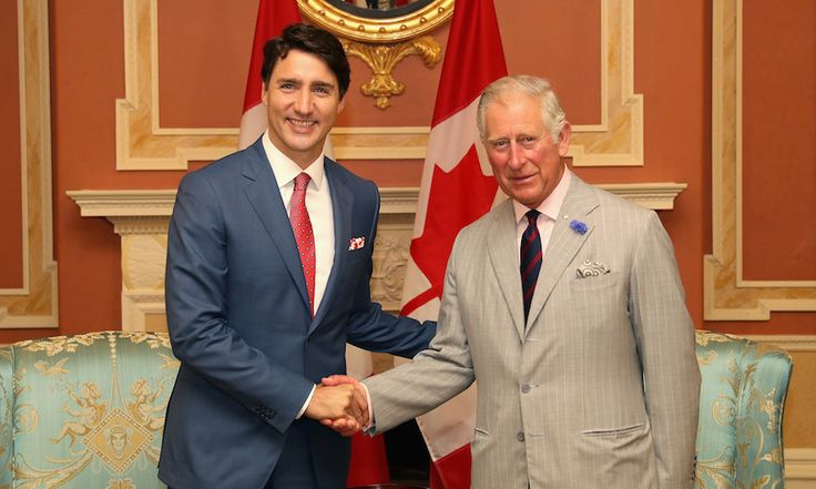 Prime Minister Justin Trudeau officially welcomed Prince Charles to Canada during a meeting at Rideau Hall.<br><p>Photo by Chris Jackson/Getty Images