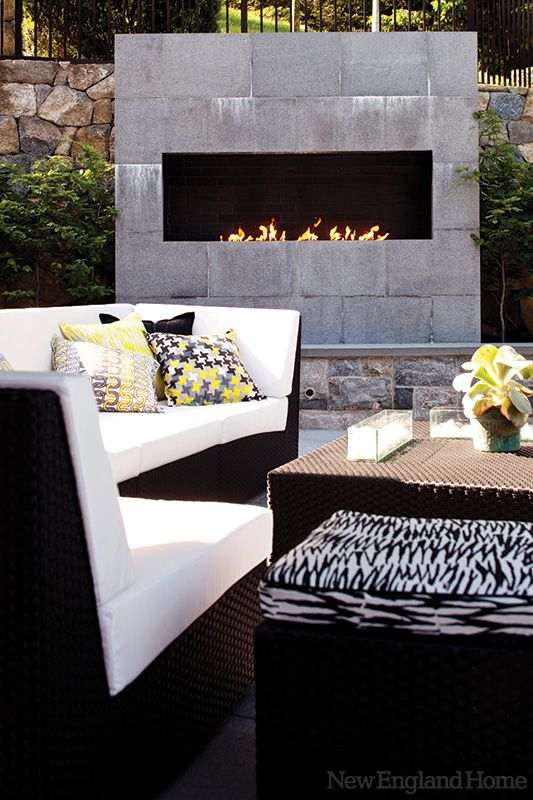 a modern fireplacelove the outdoor furniture too browse cement furniture