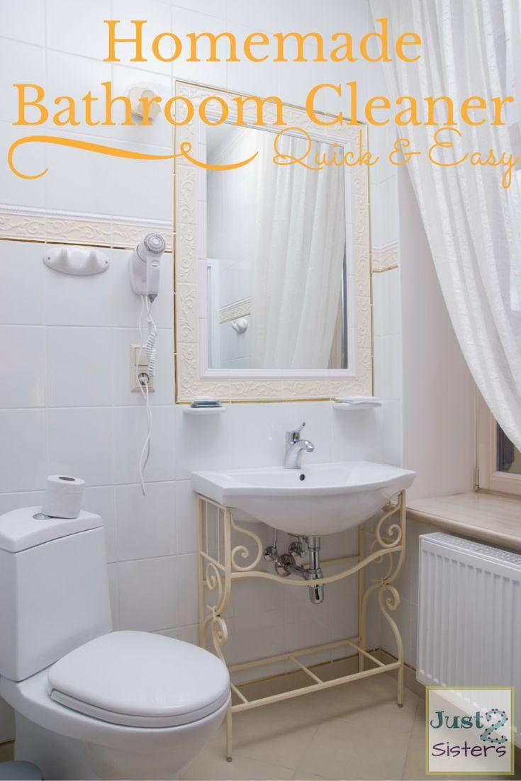 Make bathroom cleaner - Frugal Homemade Bathroom Cleaners
