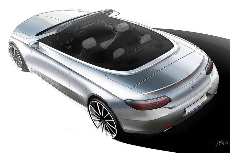 #MercedesBenz #CClass #Cabriolet Design http://www.benzinsider.com/2016/02/mercedes-benz-c-class-cabriolet-design-teased/