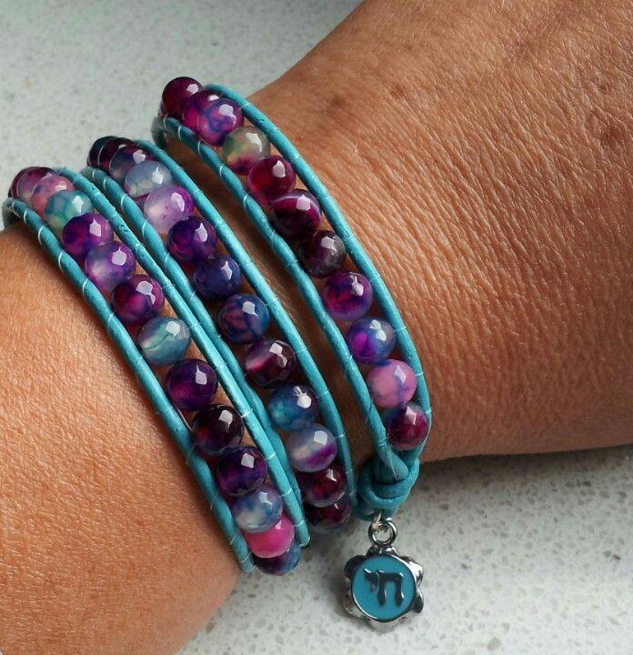 Chai wrap armband, kralen, diy, bracelet, beading, wrap, sieraden